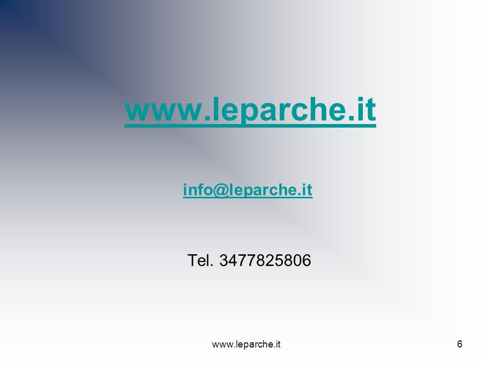 www.leparche.it6 info@leparche.it Tel. 3477825806