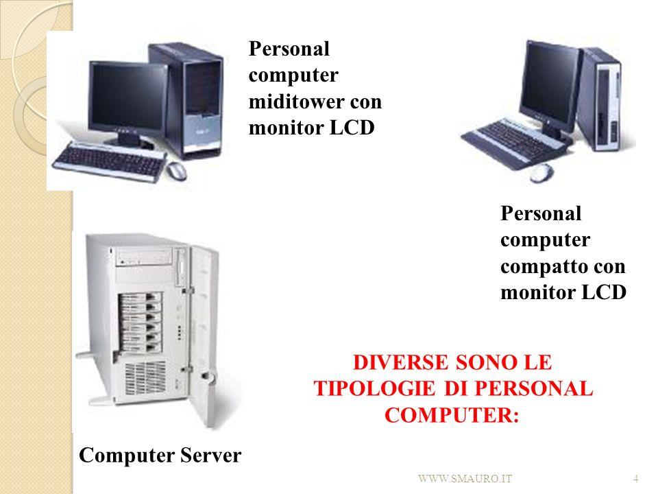 4 Personal computer miditower con monitor LCD Personal computer compatto con monitor LCD Computer Server DIVERSE SONO LE TIPOLOGIE DI PERSONAL COMPUTE