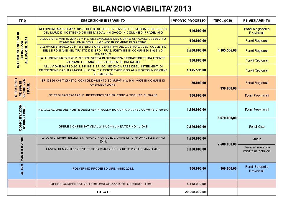 BILANCIO VIABILITA 2013