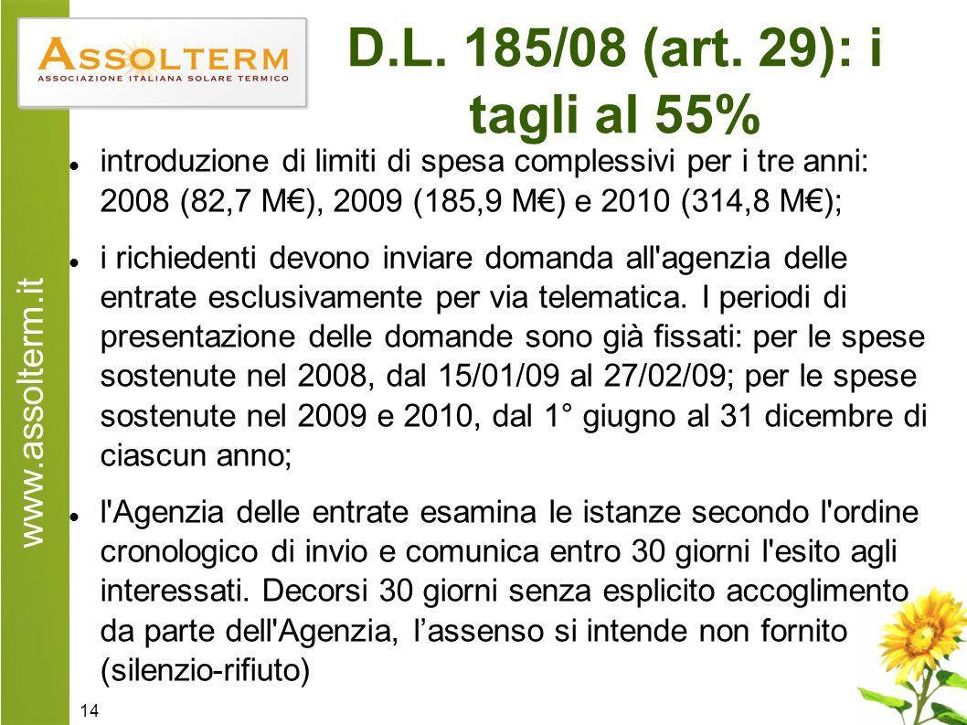 www.assolterm.it 14 D.L. 185/08 (art.
