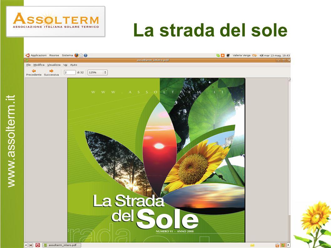 www.assolterm.it 20 La strada del sole