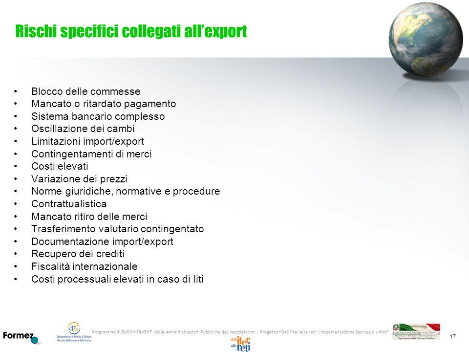 Programma di EMPOWERMENT delle Amministrazioni Pubbliche del Mezzogiorno - Progetto Dalliter alle reti: Implementazione Sportello Unico 17 Rischi spec