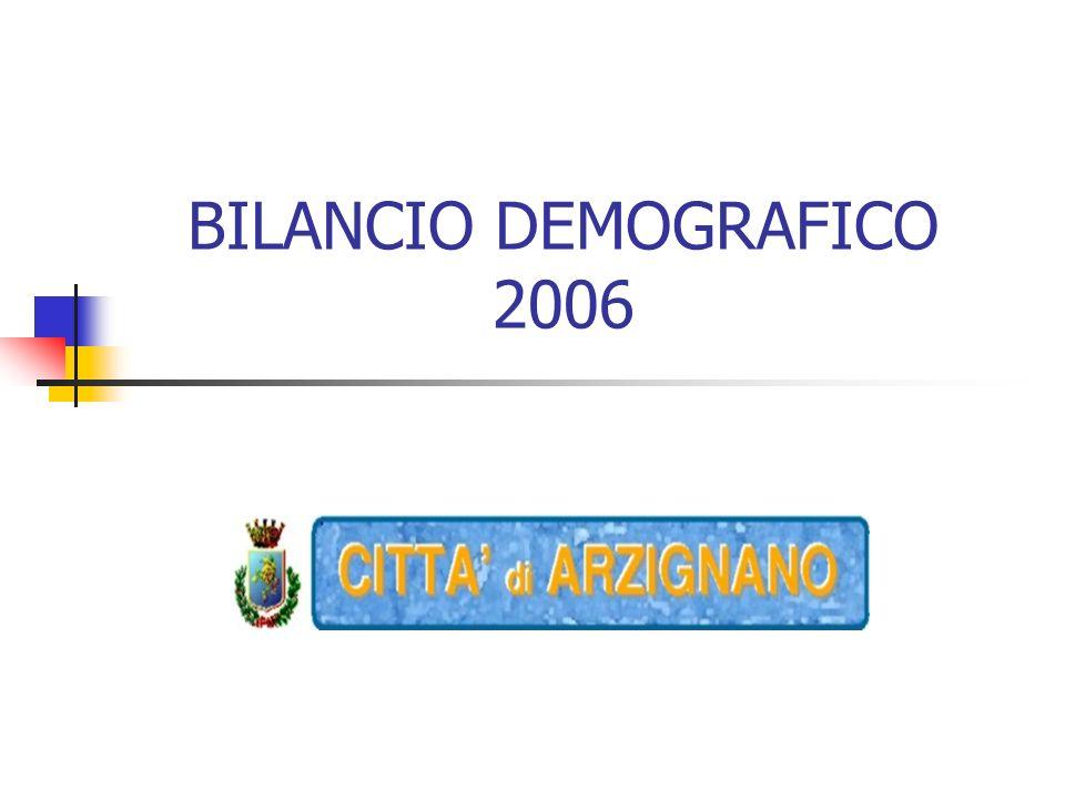 BILANCIO DEMOGRAFICO 2006