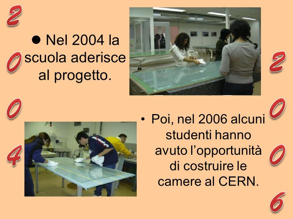 Poi, nel 2006 alcuni studenti hanno avuto lopportunità di costruire le camere al CERN. Nel 2004 la scuola aderisce al progetto.