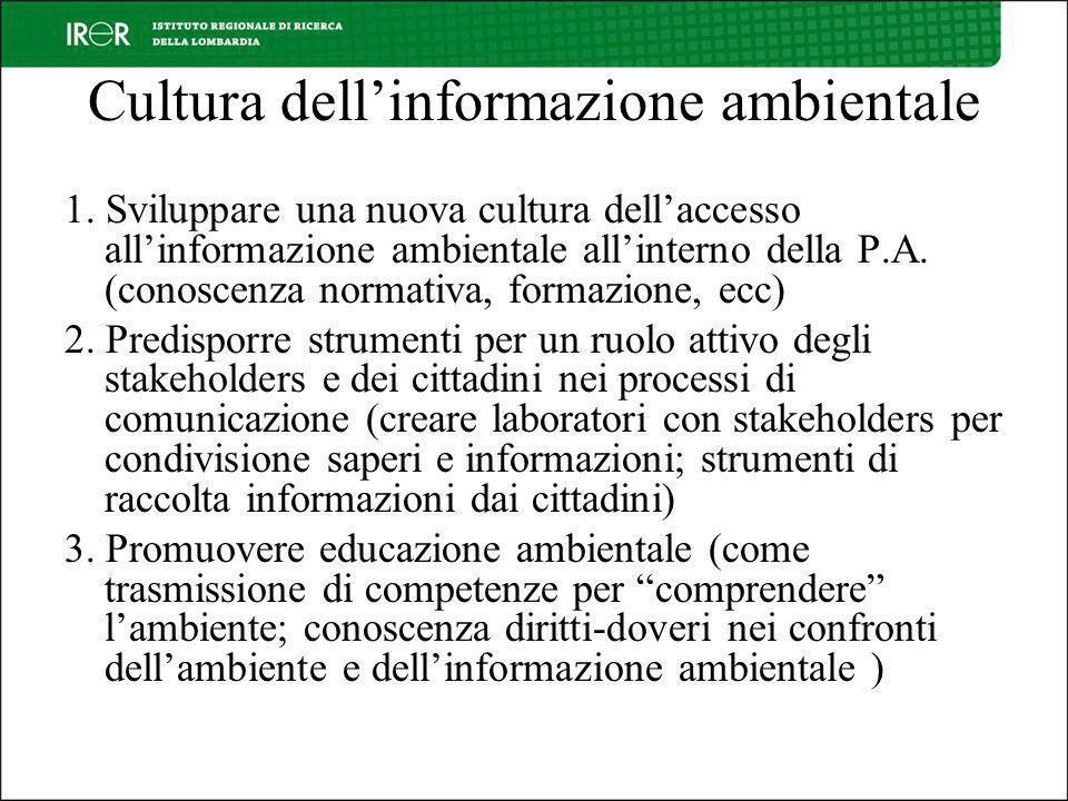 Cultura dellinformazione ambientale 1.