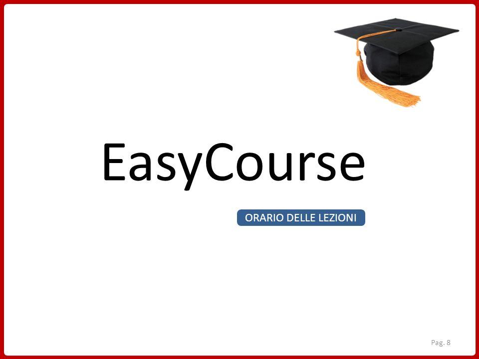 EasyCourse ORARIO DELLE LEZIONI Pag. 8