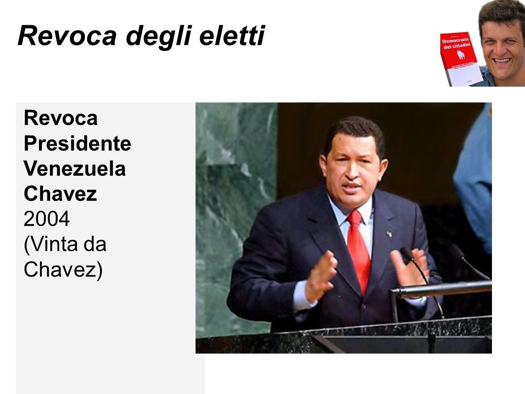 Revoca degli eletti Revoca Presidente Venezuela Chavez 2004 (Vinta da Chavez)