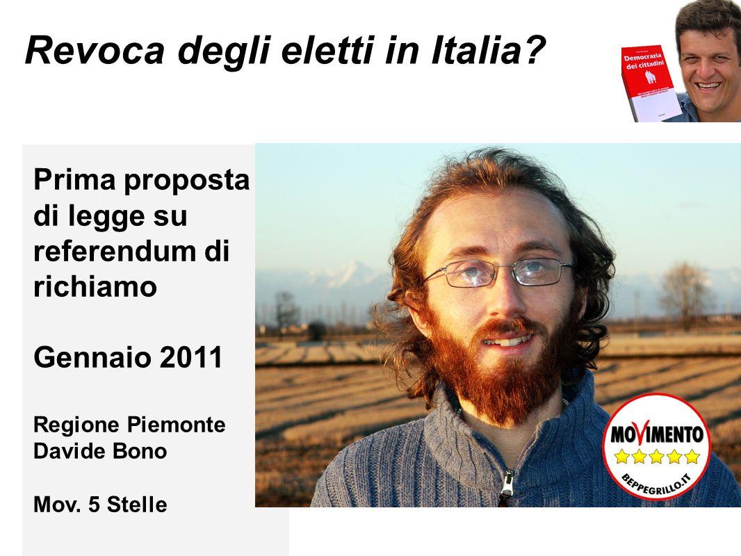 Revoca degli eletti in Italia.