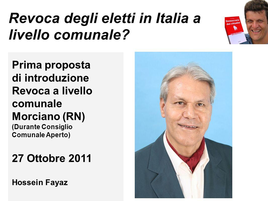 Revoca degli eletti in Italia a livello comunale.