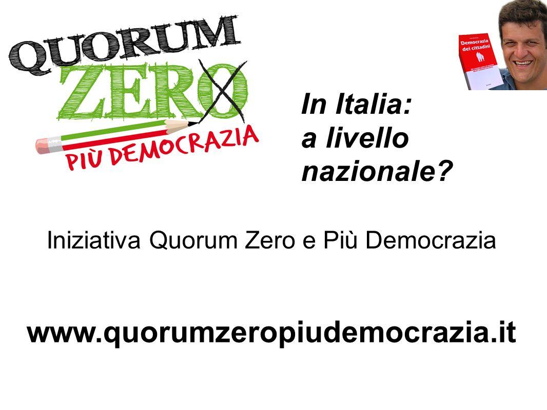 In Italia: a livello nazionale.