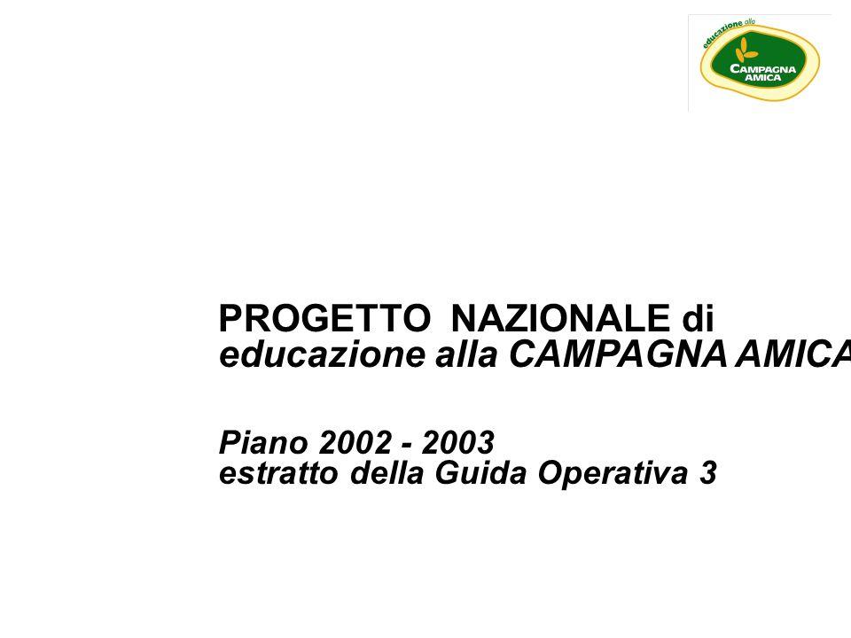 PROGETTO NAZIONALE di educazione alla CAMPAGNA AMICA Piano 2002 - 2003 estratto della Guida Operativa 3