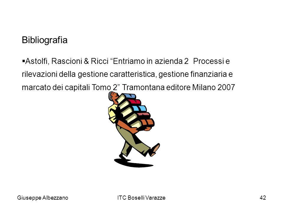 Giuseppe AlbezzanoITC Boselli Varazze42 Astolfi, Rascioni & Ricci Entriamo in azienda 2 Processi e rilevazioni della gestione caratteristica, gestione