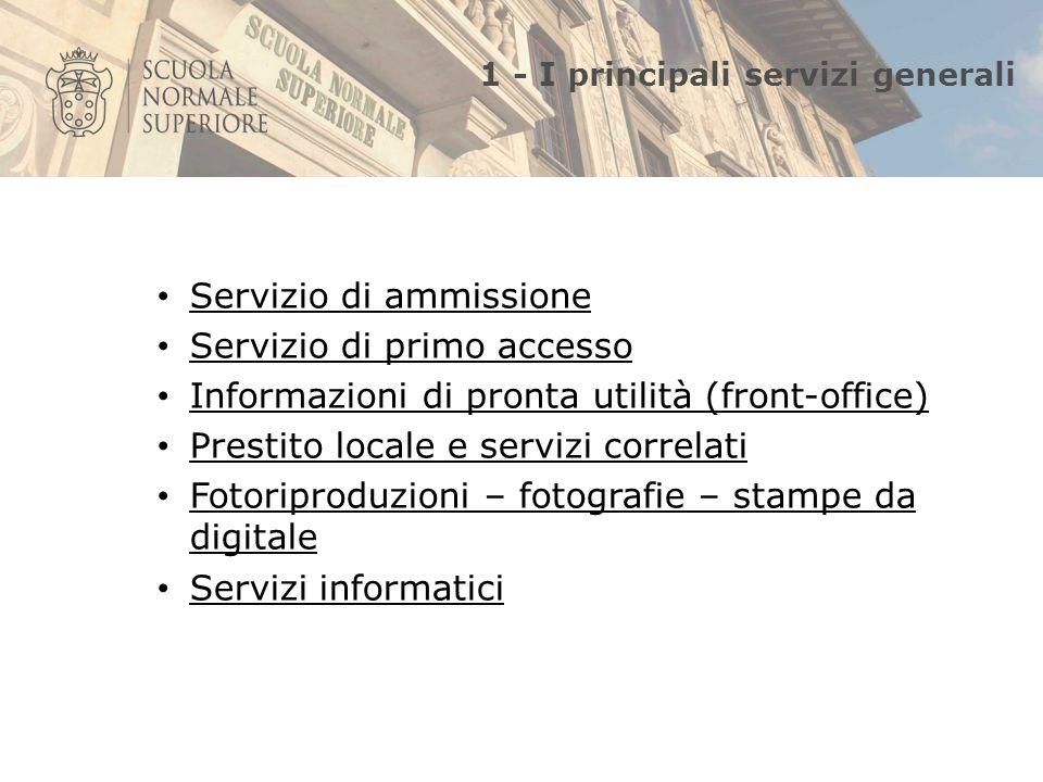 2- fonti di informazione sui servizi della Biblioteca 1.