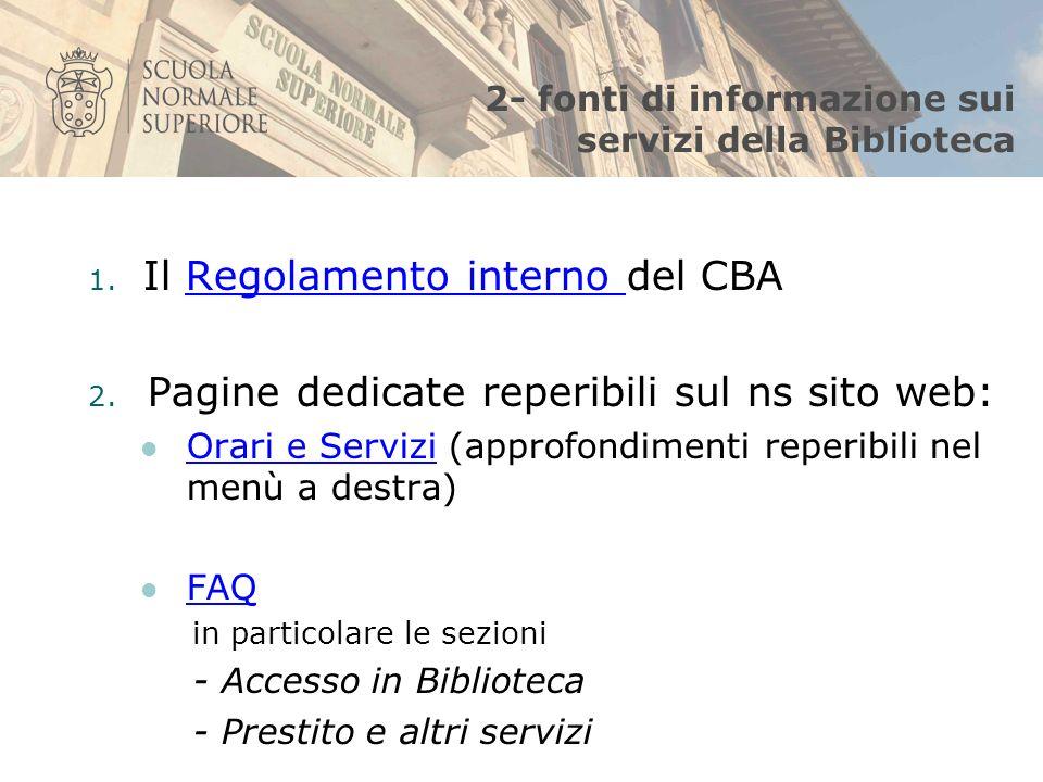 3 - pagina web dedicata ai servizi