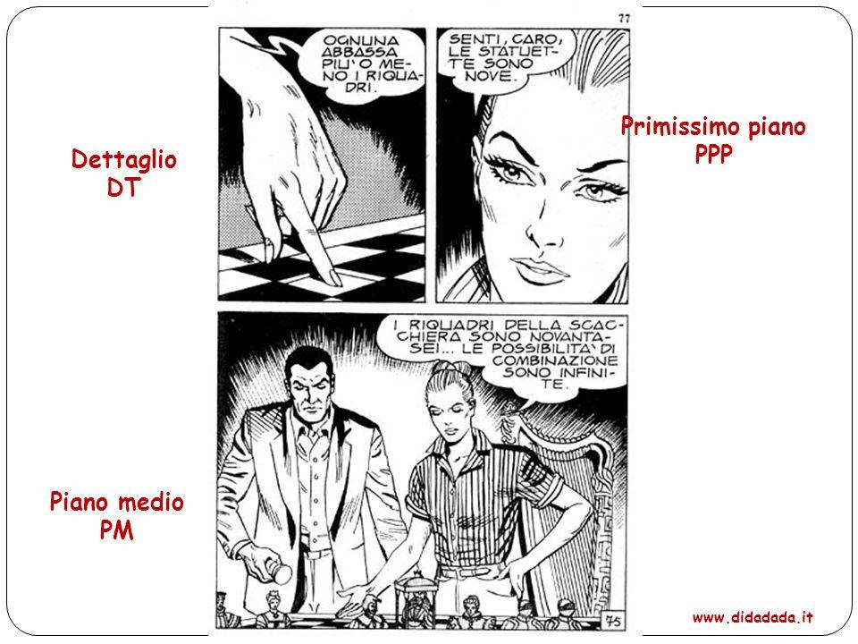 Dettaglio DT Primissimo piano PPP Piano medio PM www.didadada.it