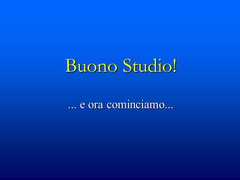 Buono Studio!... e ora cominciamo...