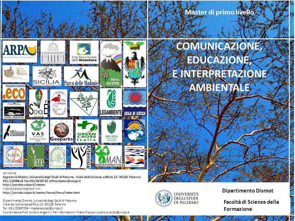 Iscrizione Segreteria Master, Università degli Studi di Palermo - Viale delle Scienze, edificio 14 - 90128 Palermo 091/23890618 Fax 091/6650720 uffici