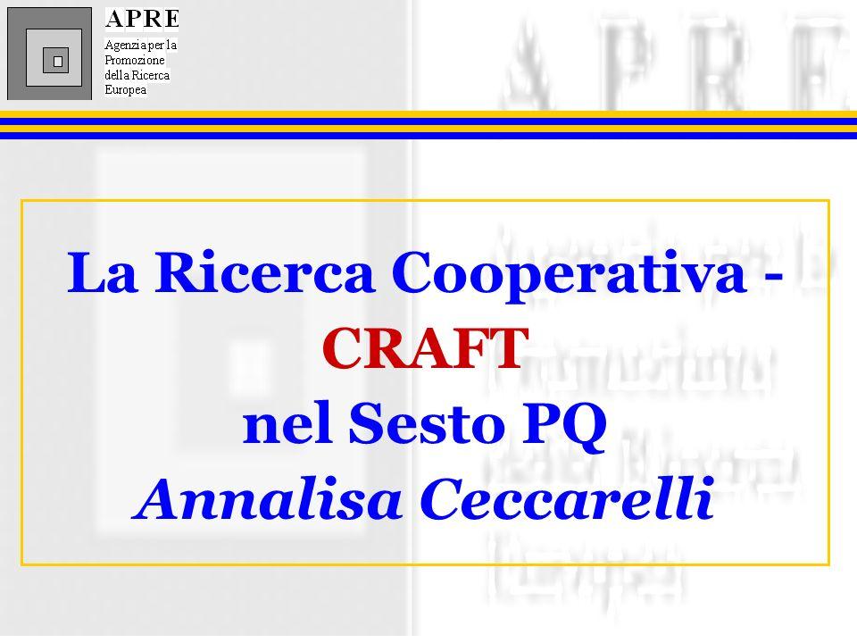 La Ricerca Cooperativa - CRAFT nel Sesto PQ Annalisa Ceccarelli
