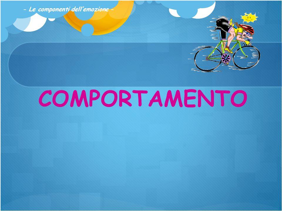 COMPORTAMENTO - Le componenti dellemozione -