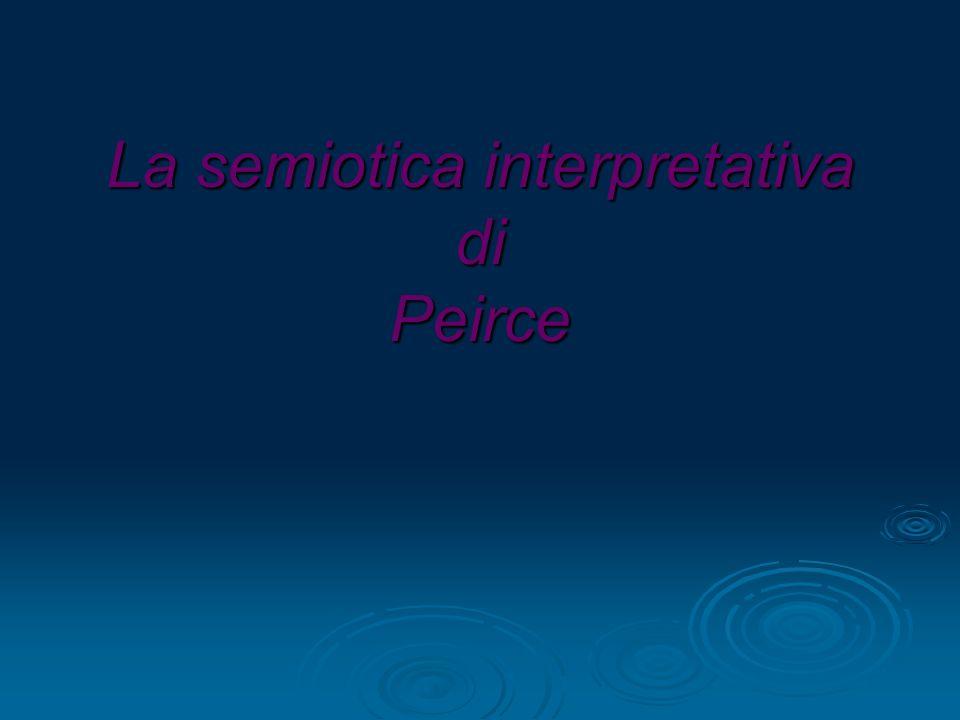 La semiotica interpretativa di Peirce