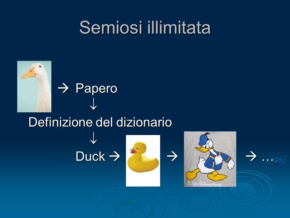 Semiosi illimitata Papero Papero Definizione del dizionario Duck …