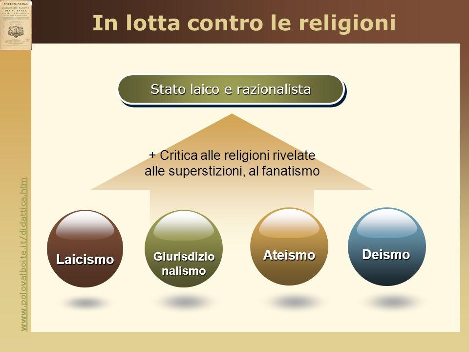 www.polovalboite.it/didattica.htm In lotta contro le religioni Stato laico e razionalista + Critica alle religioni rivelate alle superstizioni, al fan