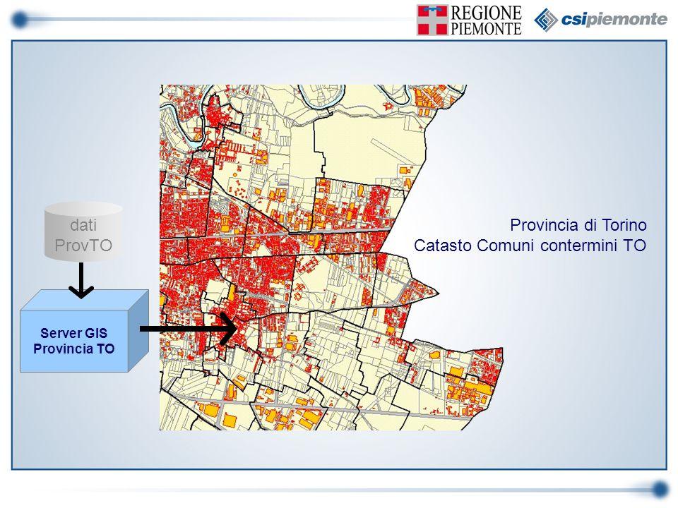 dati ProvTO Server GIS Provincia TO Provincia di Torino Catasto Comuni contermini TO