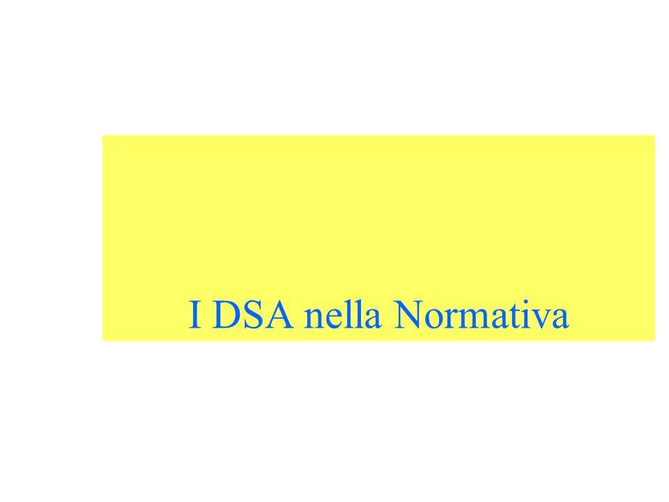 I DSA nella Normativa