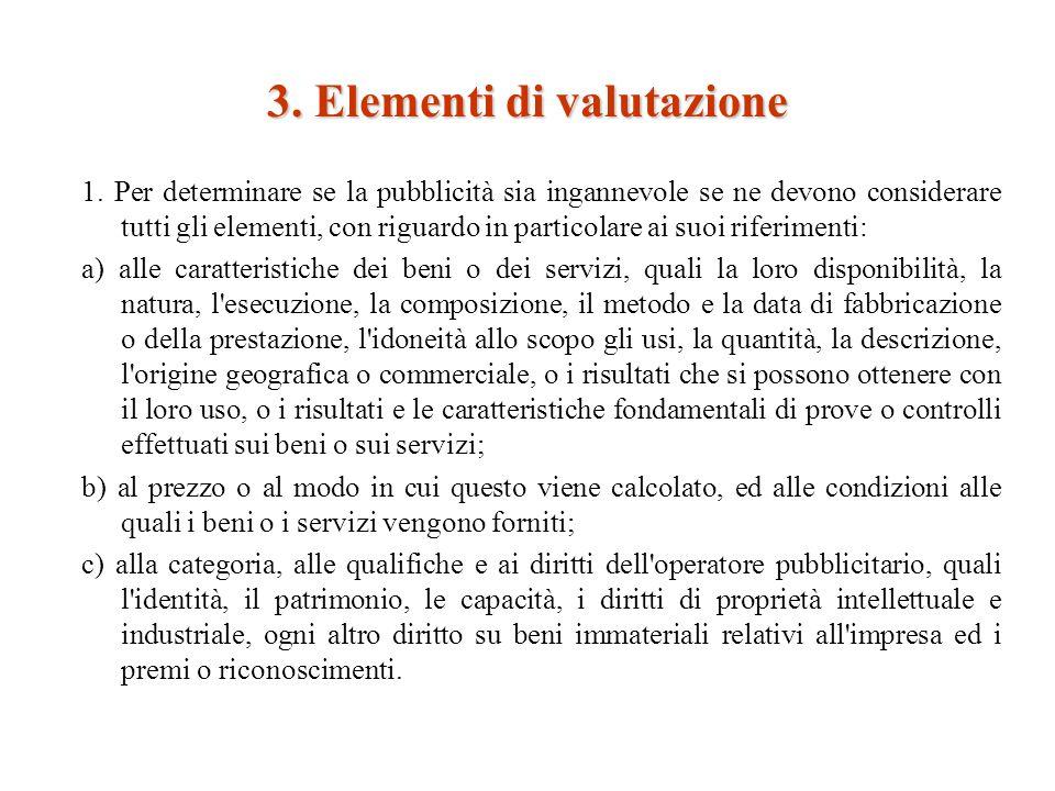 3. Elementi di valutazione 1.