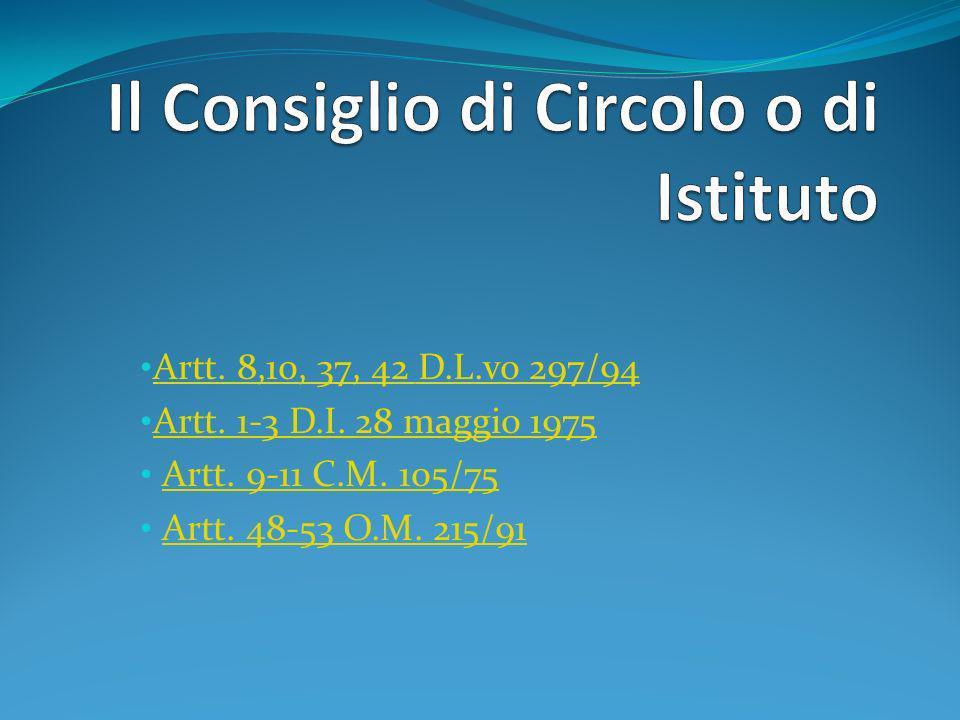 Il Consiglio di Circolo o di Istituto È composto: Nelle scuole con oltre 500 alunni: 19 componenti (Dirigente Scolastico + 8 docenti + 2 ATA + 8 genitori /ovvero 4 genitori + 4 studenti )