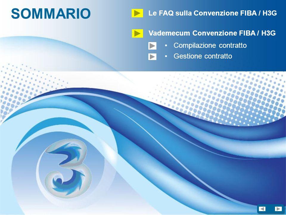 SOMMARIO Le FAQ sulla Convenzione FIBA / H3G Vademecum Convenzione FIBA / H3G Compilazione contratto Gestione contratto