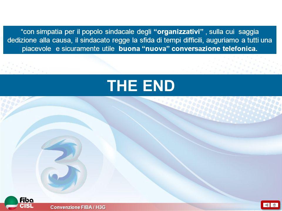 Convenzione FIBA / H3G THE END con simpatia per il popolo sindacale degli organizzativi, sulla cui saggia dedizione alla causa, il sindacato regge la