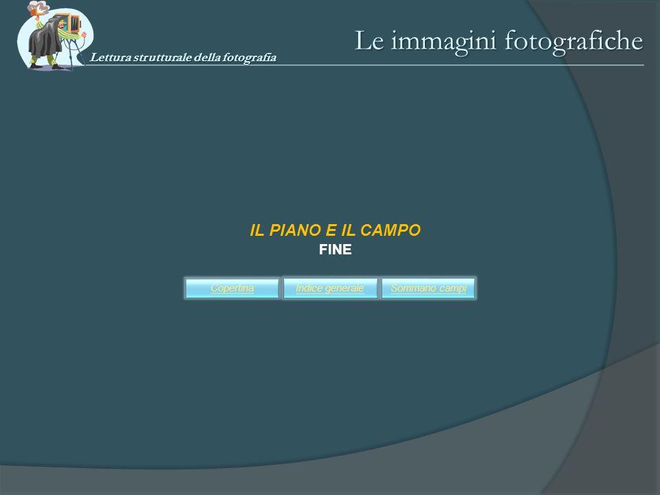 IL PIANO E IL CAMPO FINE Sommario campiIndice generaleCopertina Le immagini fotografiche Lettura strutturale della fotografia