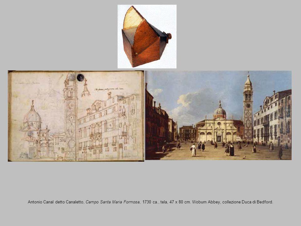 Antonio Canal detto Canaletto, Campo Santa Maria Formosa, 1730 ca., tela, 47 x 80 cm. Woburn Abbey, collezione Duca di Bedford.