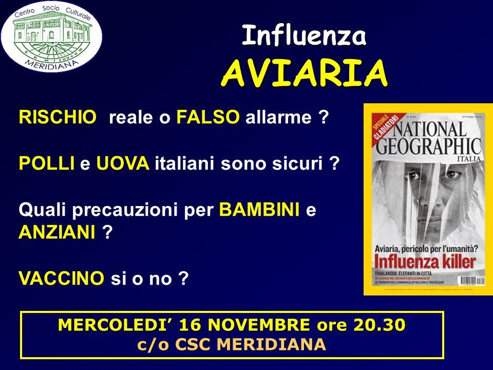 Influenza AVIARIA RISCHIO reale o FALSO allarme ? POLLI e UOVA italiani sono sicuri ? Quali precauzioni per BAMBINI e ANZIANI ? VACCINO si o no ? MERC