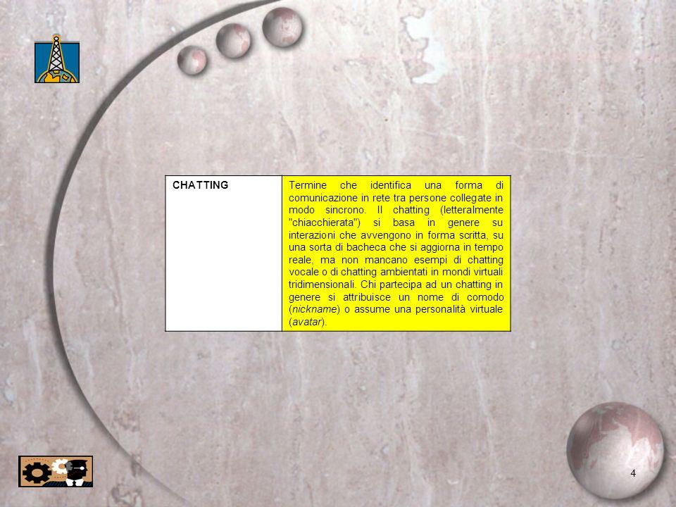 5 CLIENTSoftware o hardware che interagisce con un server: ad esempio il computer con cui ci si collega a Internet è un client che riceve informazioni da un computer-server connesso fisicamente alla rete; il programma-browser Internet Explorer è a sua volta un software client che riceve informazioni da un server Web e le elabora perché siano visualizzate correttamente.