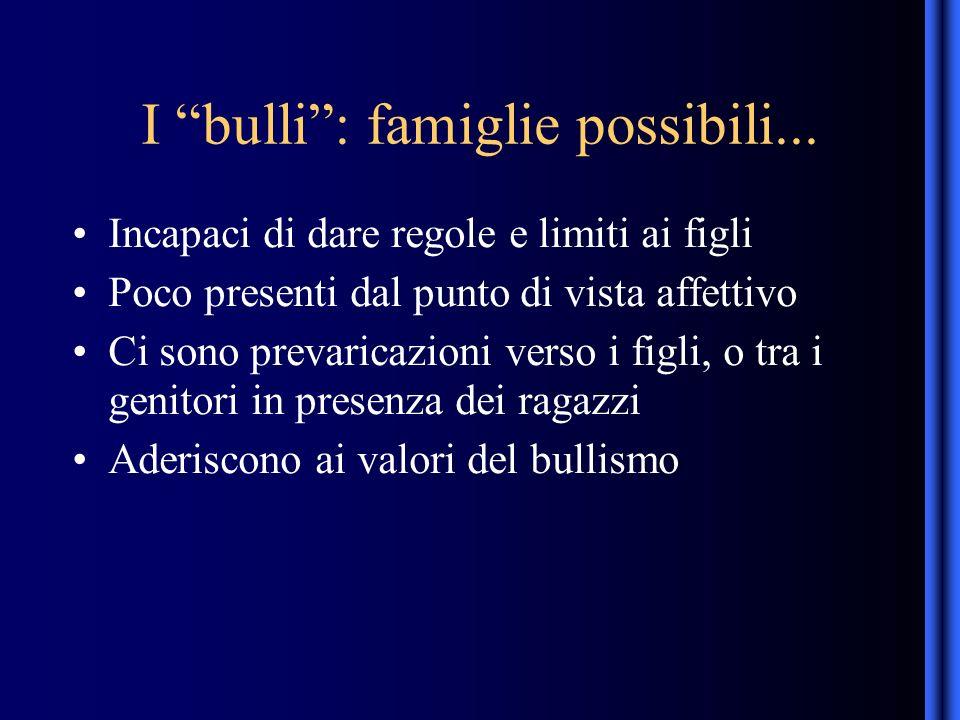 I bulli: famiglie possibili...