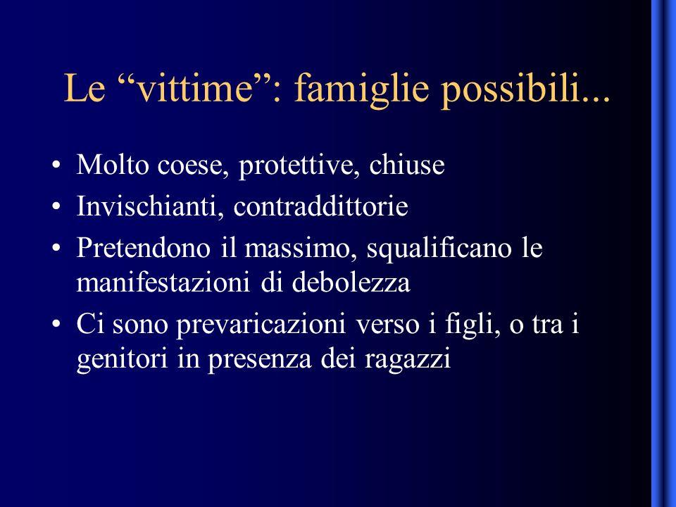 Le vittime: famiglie possibili...