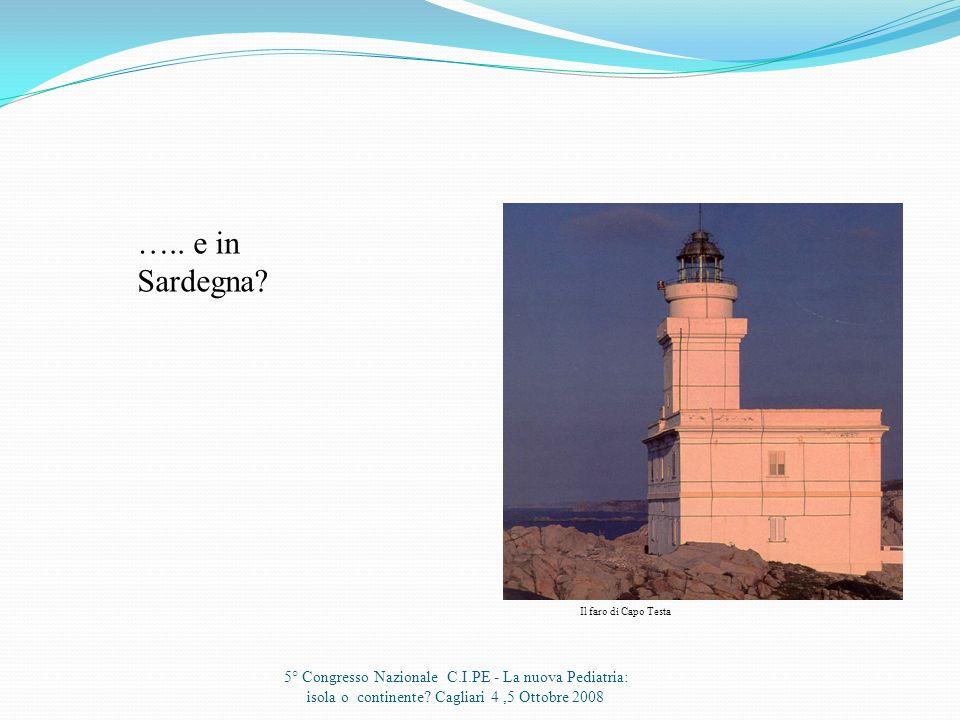 Alcuni colleghi mi hanno mandato i loro dati…. 5° Congresso Nazionale C.I.PE - La nuova Pediatria: isola o continente? Cagliari 4,5 Ottobre 2008