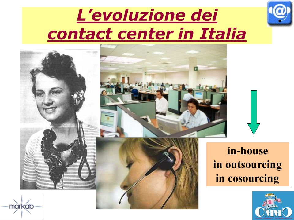 Levoluzione dei contact center in Italia in-house in outsourcing in cosourcing