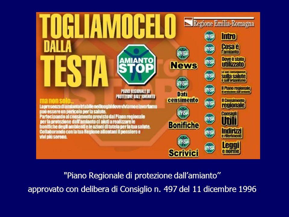 Piano Regionale di protezione dallamianto approvato con delibera di Consiglio n.