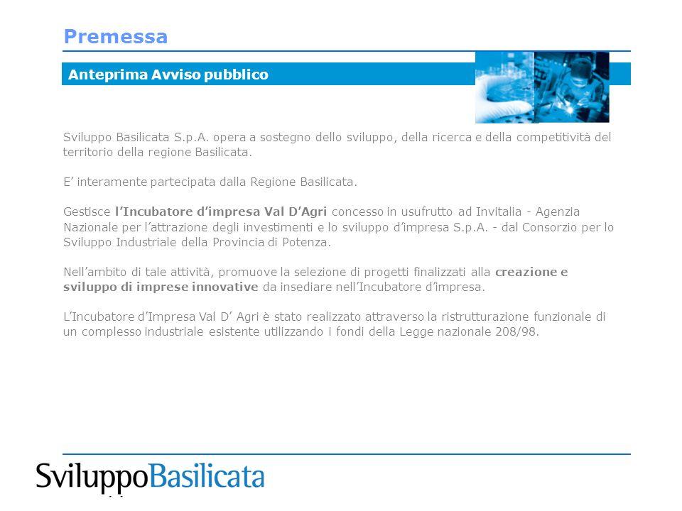 Premessa Sviluppo Basilicata S.p.A.