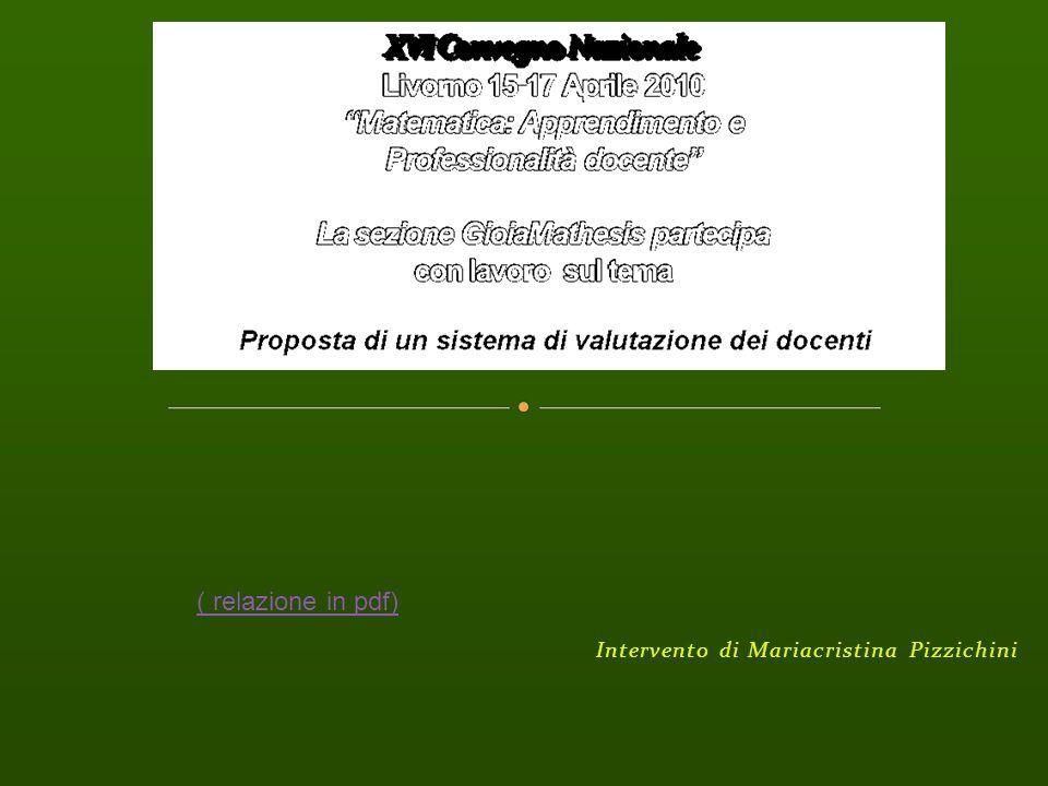 Intervento di Mariacristina Pizzichini ( relazione in pdf)