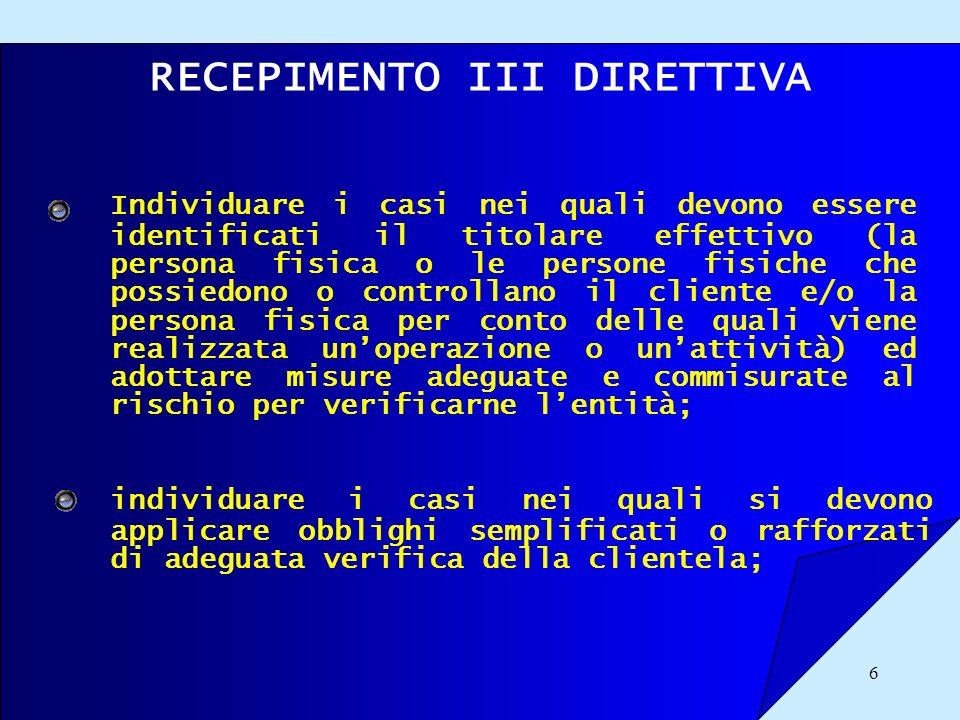 17 LATTIVITA NEL CORSO DELLITER PARLAMENTARE COMUNITARIO Definizione di rapporto continuativo (Art.