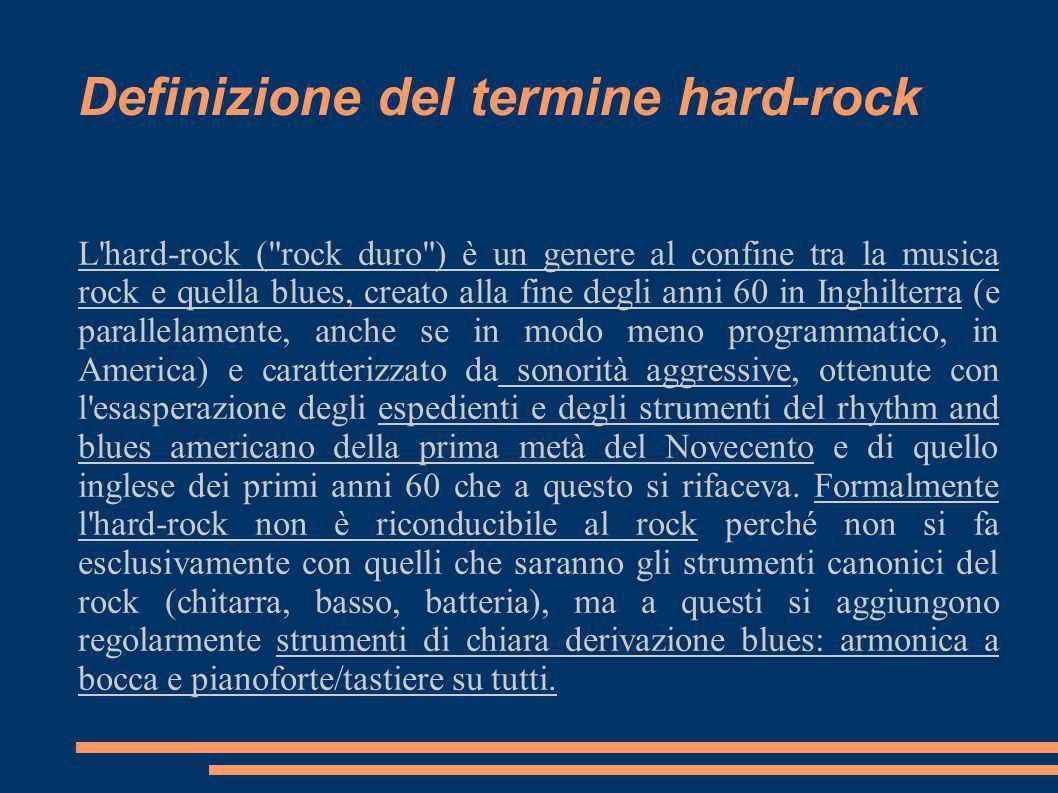 L'hard-rock (