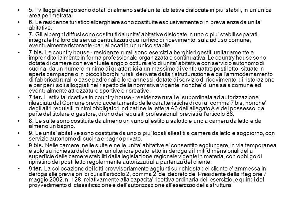 Strutture ricettive all aria aperta Art.67 (Definizione e tipologia) 1.
