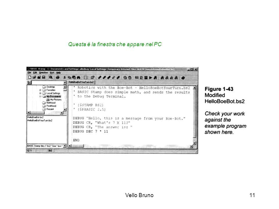 Vello Bruno11 Questa è la finestra che appare nel PC