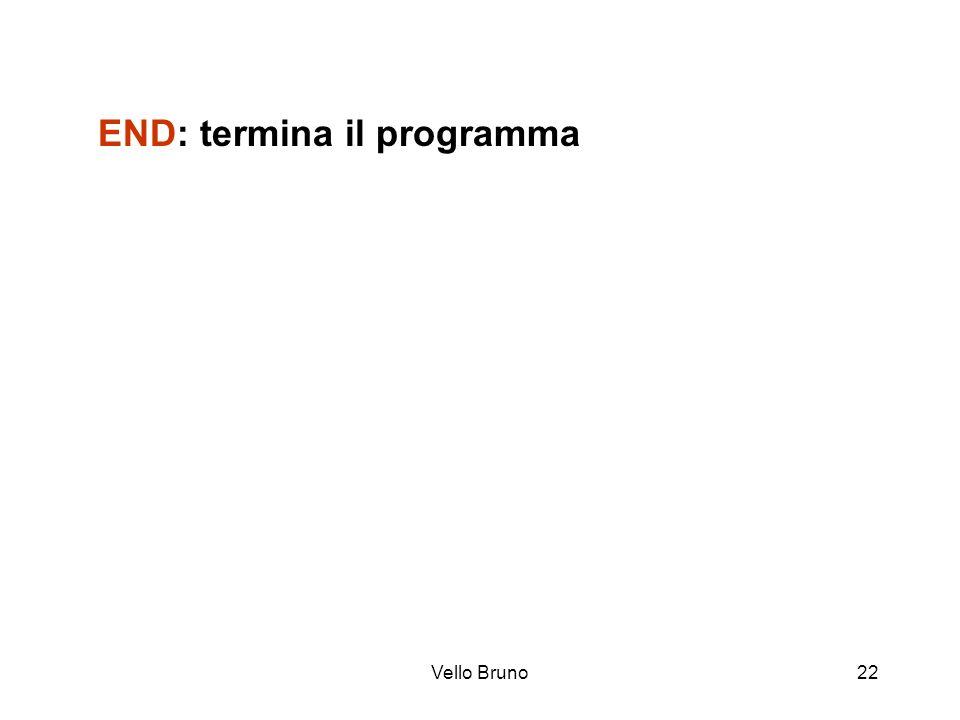Vello Bruno22 END: termina il programma