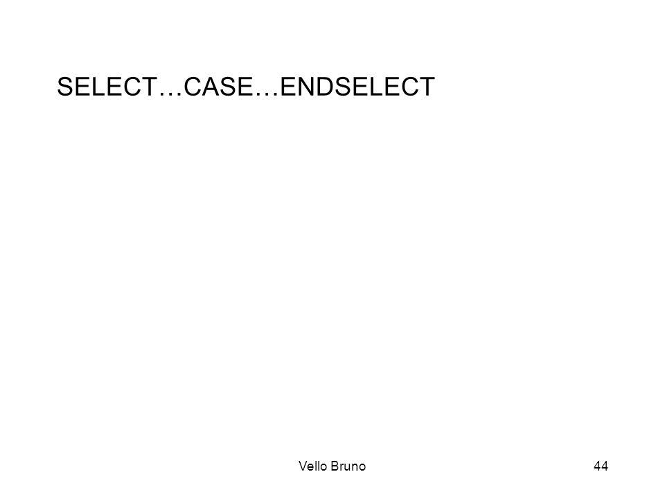 Vello Bruno44 SELECT…CASE…ENDSELECT