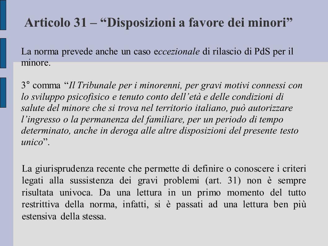 La norma prevede anche un caso eccezionale di rilascio di PdS per il minore.